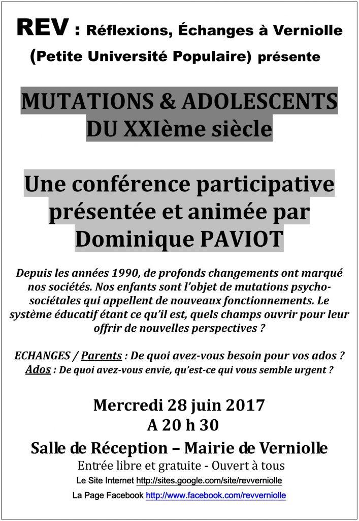 Rev- Conférence du mois de juin 2017