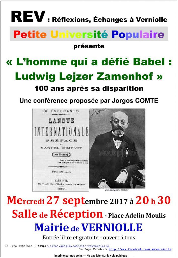 REV - Conférence du 27 septembre