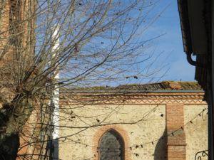 Vue du toit de l'église