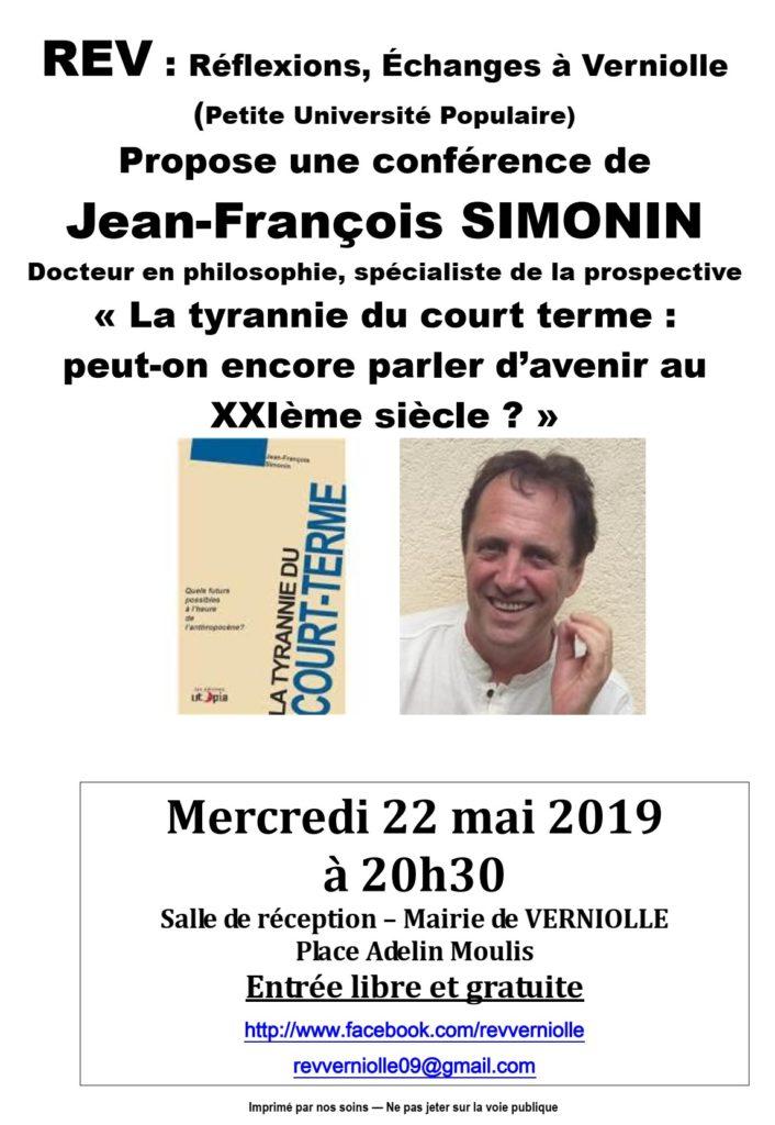 REV - Conférence du 22 mai 2019