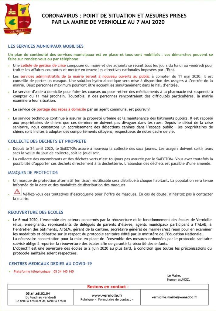 Mairie – info du 7 mai